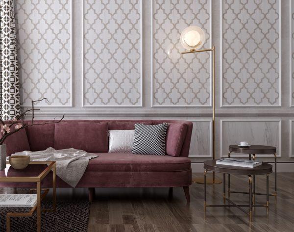 「漫步云端」白色淡雅暖调欧式客厅