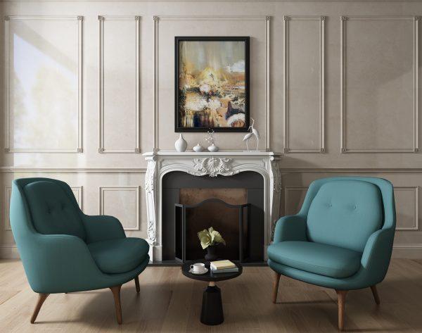 「米洛西米黄」雅奢情调欧式客厅背景墙
