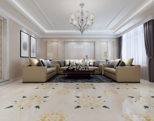 「菱形米白」明朗雅趣欧式客厅沙发背景墙