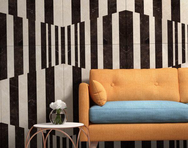 「变奏曲」深浅搭配空间韵律现代客厅沙发背景墙