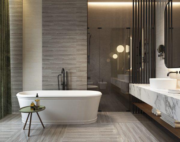 「蓝金沙」彩色系雅奢气质现代卫浴间