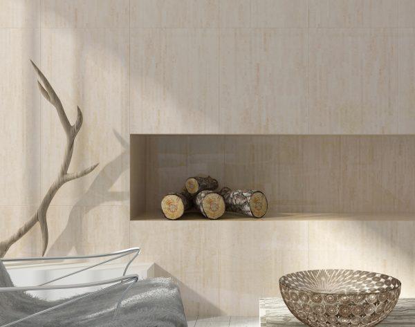 「条形米黄」暖色米黄优雅气质现代客厅