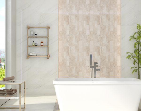 「路易十四」淡雅白个性时尚现代卫浴间