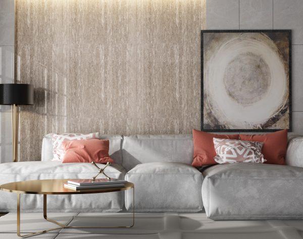 「条形深灰」条拼跳跃灰个性首选现代客厅