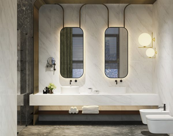 「爵士白」淳雅白设计至上现代卫浴间