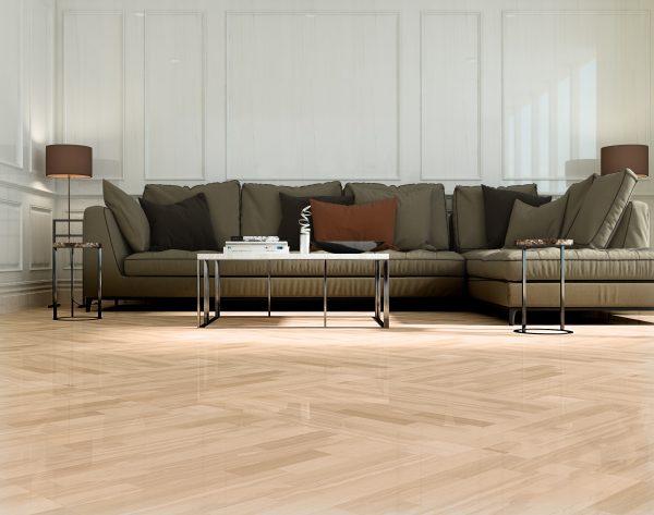 「精工几何条形003意大利木纹」多色交织明朗舒适欧式客厅