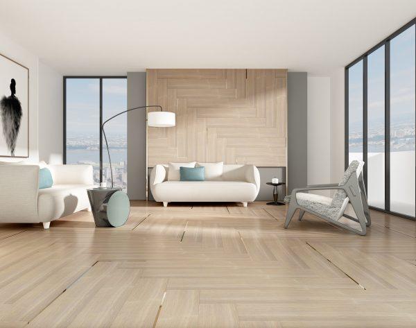 「意大利橡木石」简约条形经典时尚现代客厅