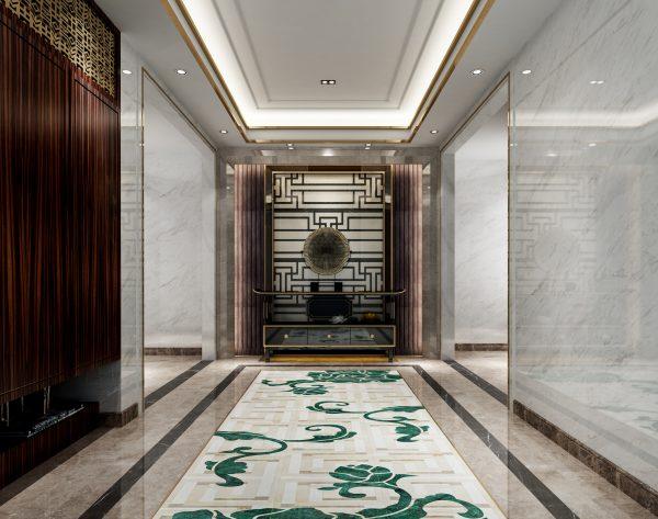 「T.K.CHU 锦」大师设计华美高雅新中式玄关