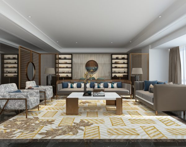 「T.K.CHU 织」国际时尚从容雅致新中式客厅