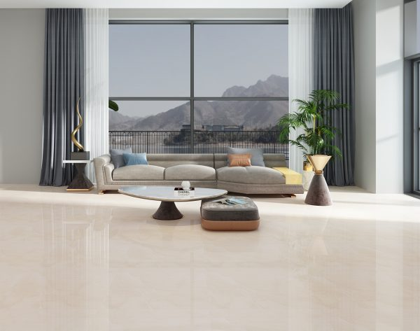 「索菲亚米黄」极简主义敞亮舒适现代客厅