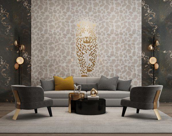 「米洛西美豹」 野性优雅高级奢华新奢主义背景墙