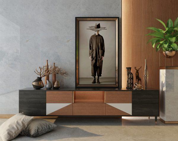 「米洛西绅士灰」 时尚经典雅奢精致现代都市背景墙