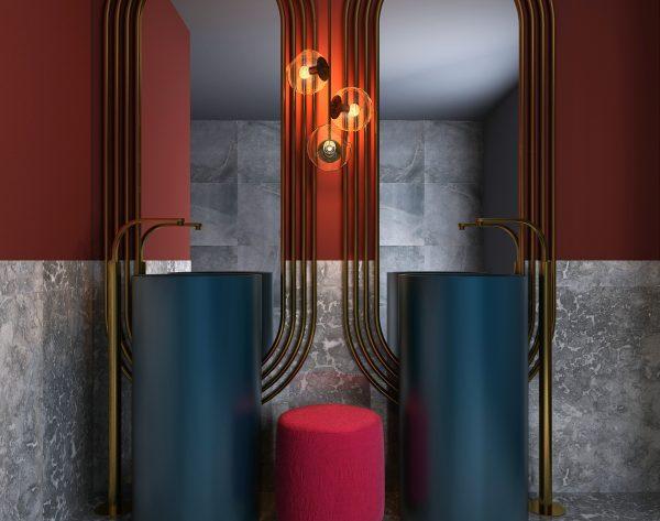 「米洛西深灰」个性前卫风格独特现代摩登卫浴间