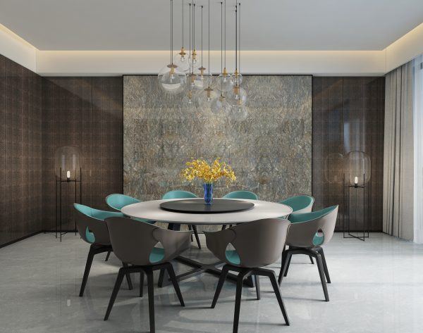「铂金钻」奢华亮丽现代餐厅