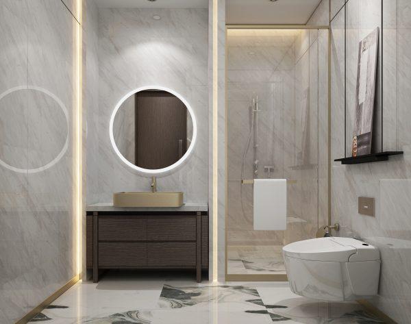 「水墨白」个性简约新中式卫生间